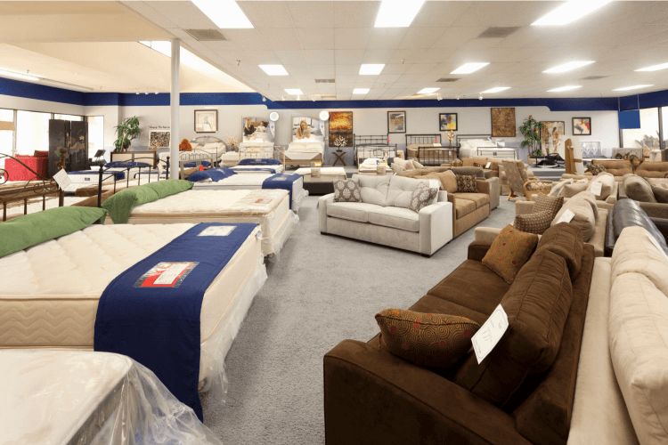 a mattress showroom
